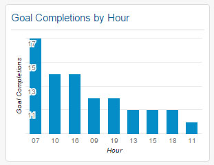 Goal Completions by Hour Widget